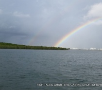 Estuary fishing-double rainbow