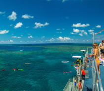Relax, rejuvenate and unwind on the upper level sundeck at our Moore Reef Marine Base