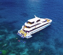 Visit two exclusive reef sites, with plenty of time to enjoy relaxing and sun bathing on three deck levels.