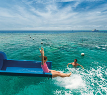 Our Moore Reef double-storey Marine Base is home to the only waterslide on the Great Barrier Reef.