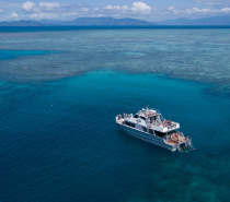 Ocean Freedom has two stunning destinations, one close to Upolu Cay and the other on the outer edge of Upolu Reef.