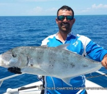 Bluewater (reef) fishing for Gold Spot Trevally