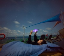 sleeping under the stars at our Moore Reef Marine Base.