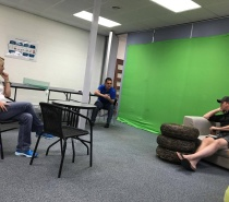 Green Room is available to hire for video making.