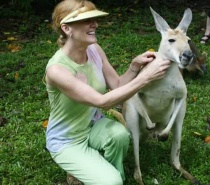 Hand Feeding Kangaroos at Lync Haven
