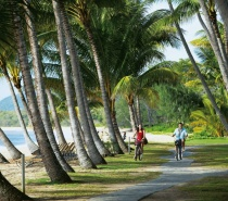 Beachfront cycling