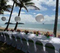 Private function Beachfront dining