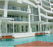 Both pools feature large unique swim up decks, which are an advantage for those apartments with direct pool access as you will have your own entry and exit point to your apartment.