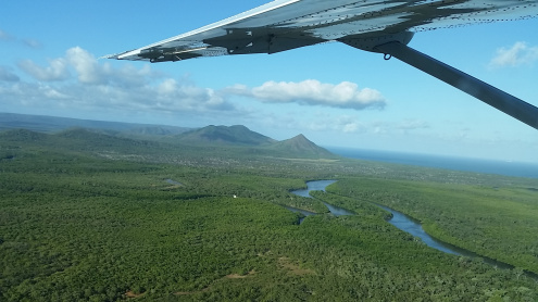 Fly along the Scenic Daintree Coast