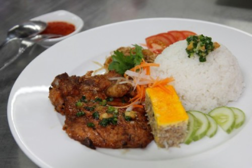 Viet Dishes with Serving of Rice
