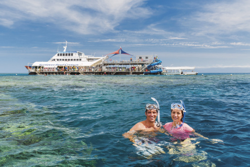 Snorkelling on the Great Barrier Reef with Sunlover Cruises