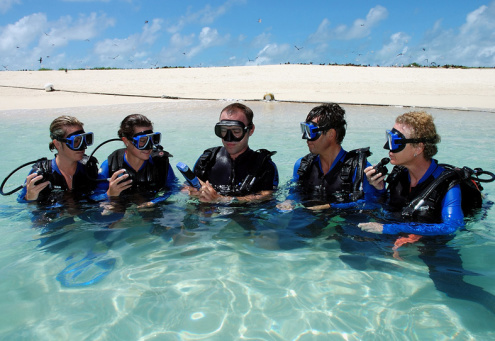 Introductory diving at Michaelmas Cay