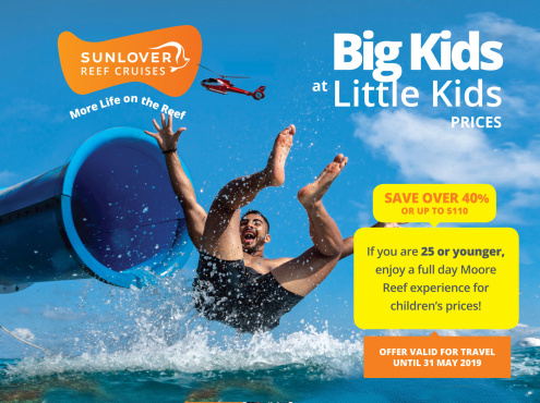 Sunlover Reef Cruises 2019 Promotion Big Kids