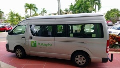 Free hourly shuttle bus service!
