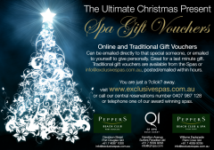 The Ultimate Christmas Present Spa Gift Vouchers