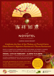 Celebrate Chinese New Year at Novotel Cairns Oasis Resort