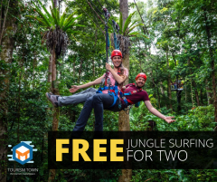 Win a FREE Jungle Surfing Tour for 2!