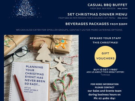 End of Year Functions / Christmas Party Packages