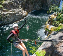 We start at the top of the gorge where all the best waterfalls are located and then we canyon our way down the gorge by abseiling, cliff jumping, sliding and swimming.