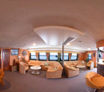 OceanQuest has a spacious bar and lounge area to relax in