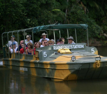 Army Duck Rainforest Tour with Tropical Fruit Orchard.